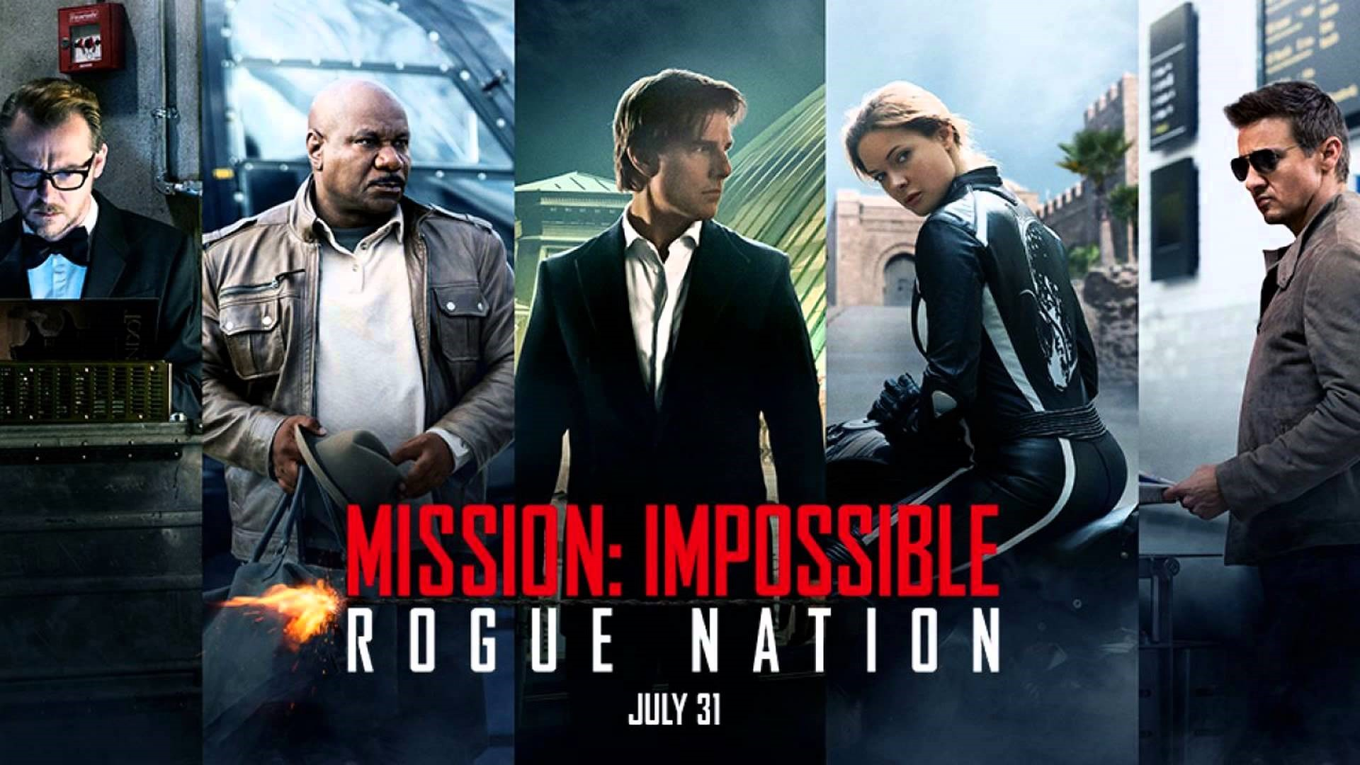 Tom Cruise and others in Mission Impossible - Rogue Nation