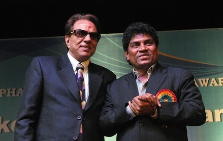 Johnny Lever with Dharmendra