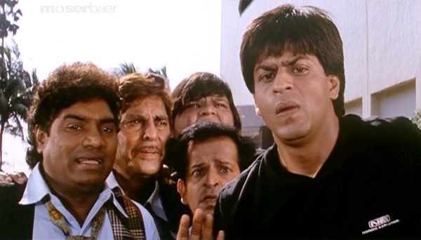 Johnny Lever with Sharukh Khan and others